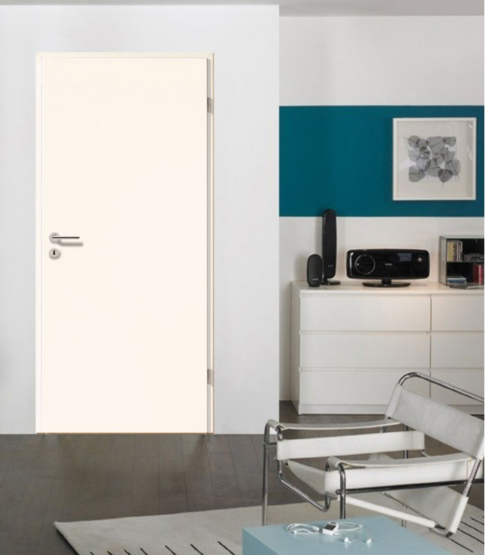 Plain White Door Modern Solid Timber White Interior