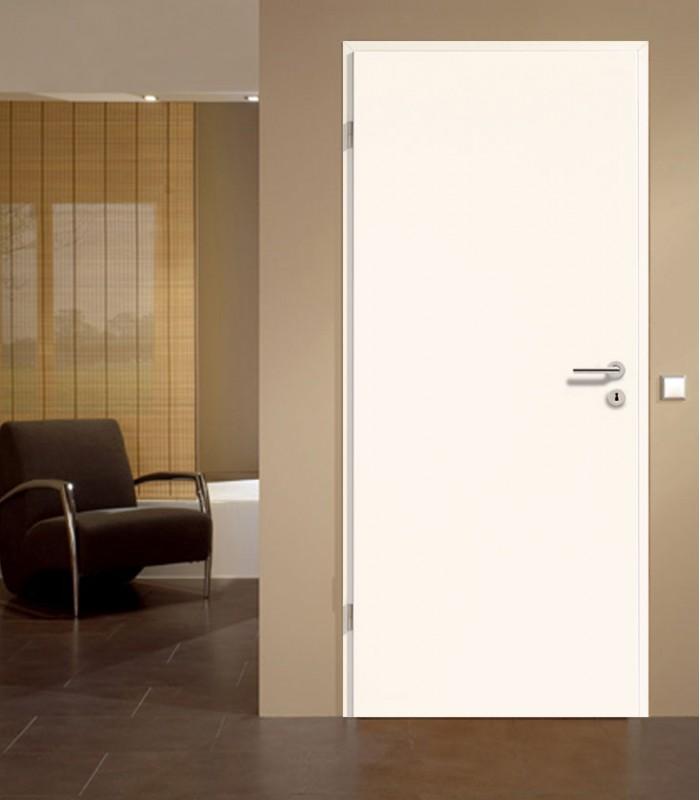 Plain White Door Modern Solid Timber White Interior