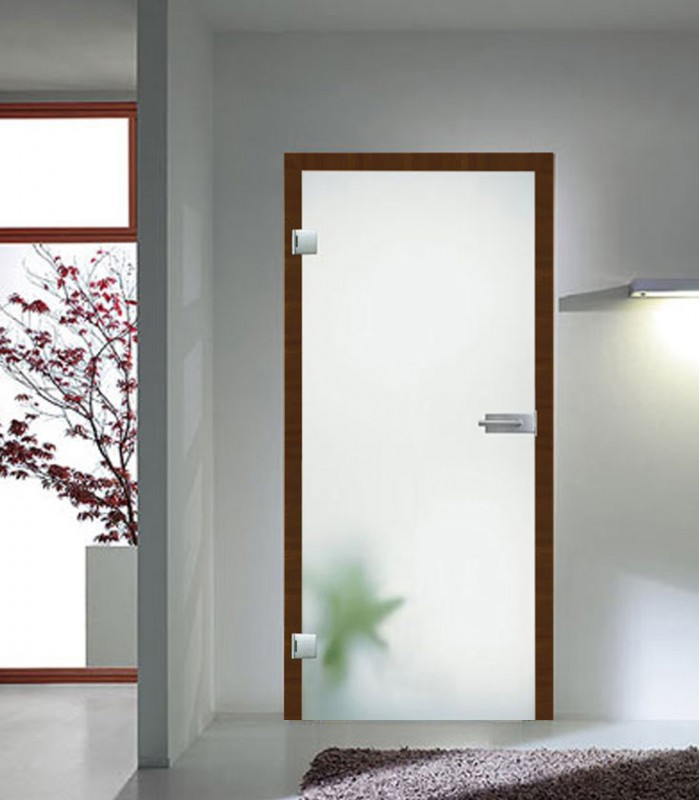 Frosted toughened safety glass internal door