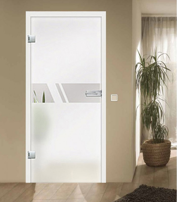Aero On Frosted Glass Door Internal Doors Frameless