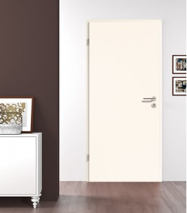 Plain White Wooden Fire Door
