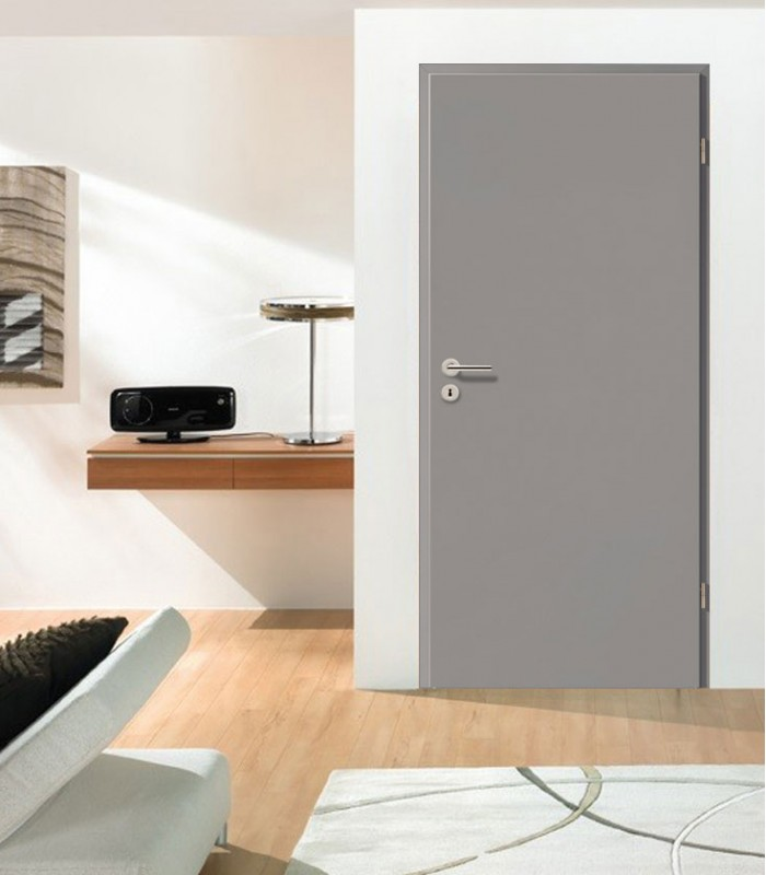 Grey Standard Doors Fireproof Painted Fire Rated