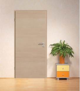 Pine Light Crosswise Modern Fire Rated Door