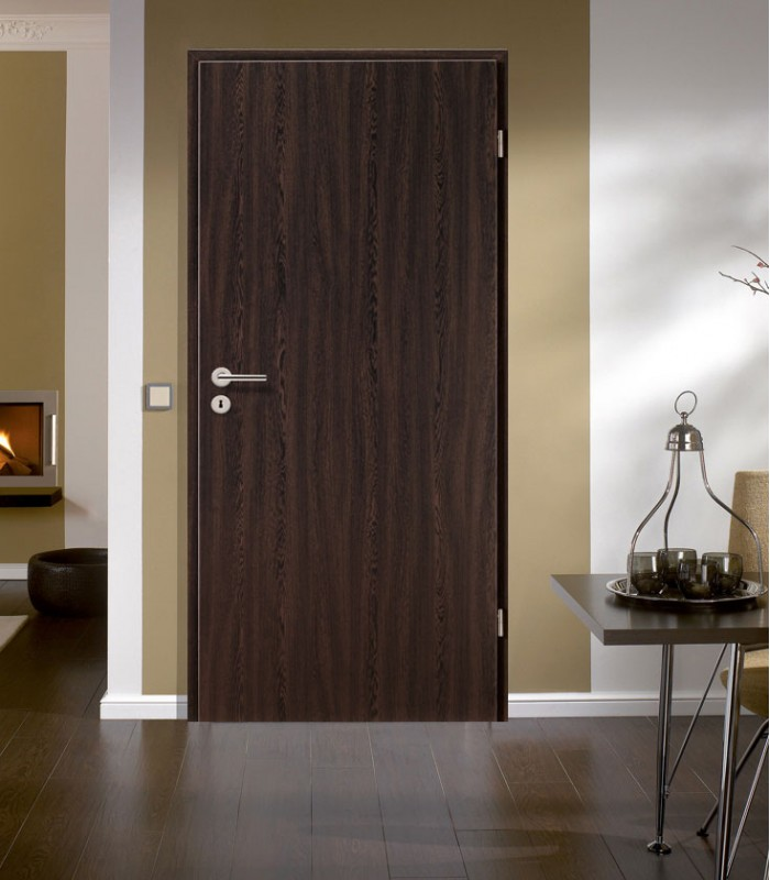 Wenge Fire Rated Doors Modern New Dark Internal