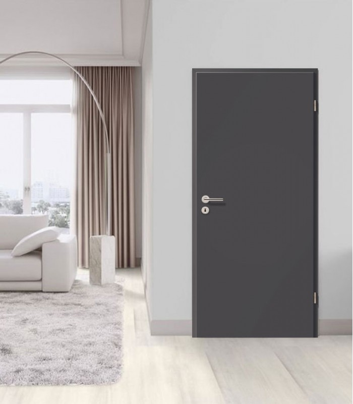 Dark Grey Doors Fire Resistant Doors Solid Core Doors