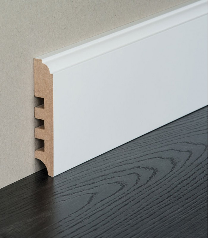 white skirting board terra mdf skirting painted skirting. Black Bedroom Furniture Sets. Home Design Ideas
