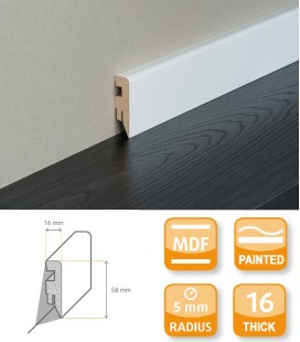 Siesta Skirting Board MDF White Painted 1.1