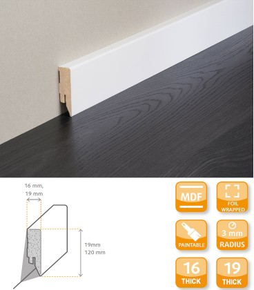 Topline Skirting Board MDF Primed Foil 1.1