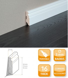 Hamburg Skirting Board - Softwood Primed