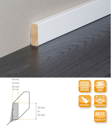 Square Edge Moulding Solid Timber Wrapped 1.1