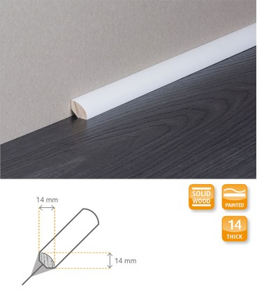 Quarter Round White Painted Moulding 1.1