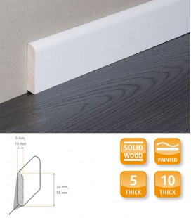 Skirting Board White Painted Moulding 1.1