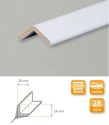 Angle White Painted Moulding 1.1