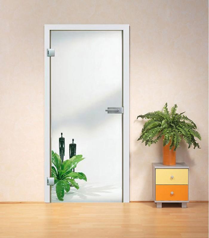 Frameless internal glass doors, toughed safety Clear glass doors