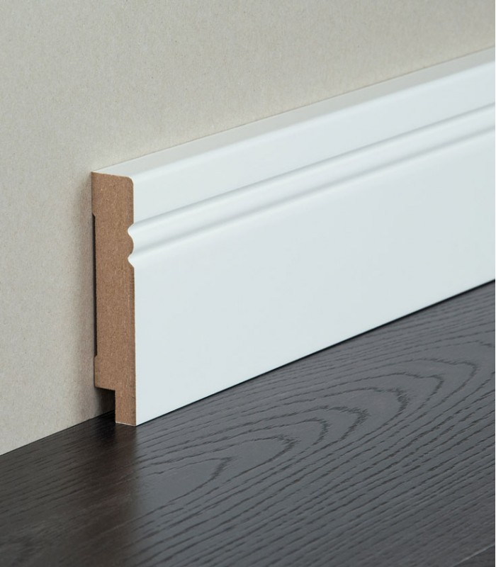 mdf white painted skirting modern quality finished. Black Bedroom Furniture Sets. Home Design Ideas