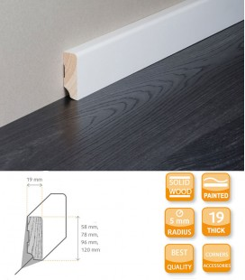 Modern Skirting Board - Softwood Painted