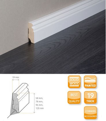 Berlin Skirting Board Softwood Painted 1.1