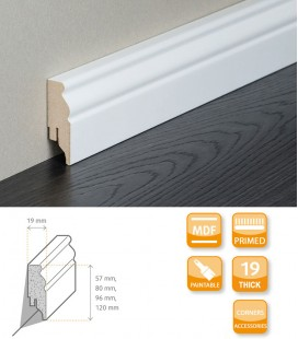 Berlin Skirting Board - MDF White Primed