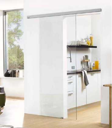 Clear Glass Sliding Door