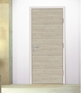 Cream Crosswise Fire Doors - Pinea Cream Horizontal Grain