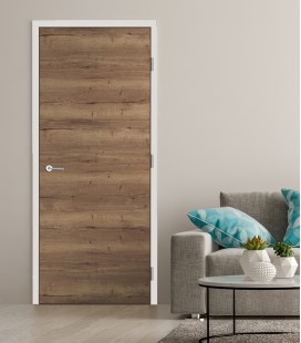 Oak Tobacco Crosswise Fire Rated Door