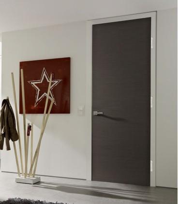 Dark Grey Real Wood Veneer Fire Rated Door