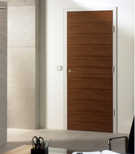 Walnut Real Wood Veneer Fire Rated Door