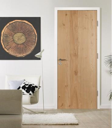 Knotty Oak Real Wood Veneer Fire Rated Door