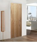 Natural Rustic Real Wood Veneer Fire Rated Door