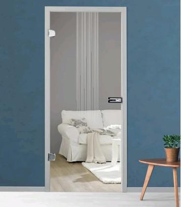 Flow frameless glass door