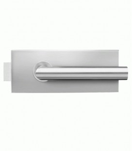 Curved latch for glass doors