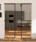 Pocket Double Doors with 1 Metal Profile