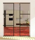 Pocket Double Doors with 2 Metal Profiles