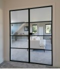 Double Doors with Metal Profiles on the Edge