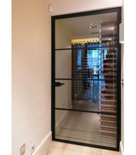 Single Door with 3 Metal Profiles