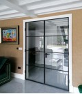 Fire Rated Double Doors with 3 Metal Profiles